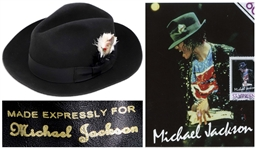 Michael Jacksons Famous Stage-Worn Black Fedora -- From 1984 Victory Tour Used When Jackson Performed Billie Jean