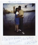 Tupac Shakur Signed Polaroid From Prison -- In the Photo, Tupac Flashes the Westside Sign