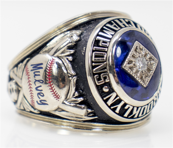 1955 Brooklyn Dodgers World Series Ring -- Dodgers Owner Stephen W. Mulvey's Replacement Ring