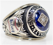 1955 Brooklyn Dodgers World Series Ring -- Dodgers Owner Stephen W. Mulveys Replacement Ring