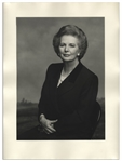 "Large 12"" x 16"" Photograph of Margaret Thatcher, Taken by Terence Donovan in 1995"