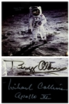 "Fantastic Buzz Aldrin and Michael Collins Signed 20"" x 16"" Photo of the First Lunar Landing"