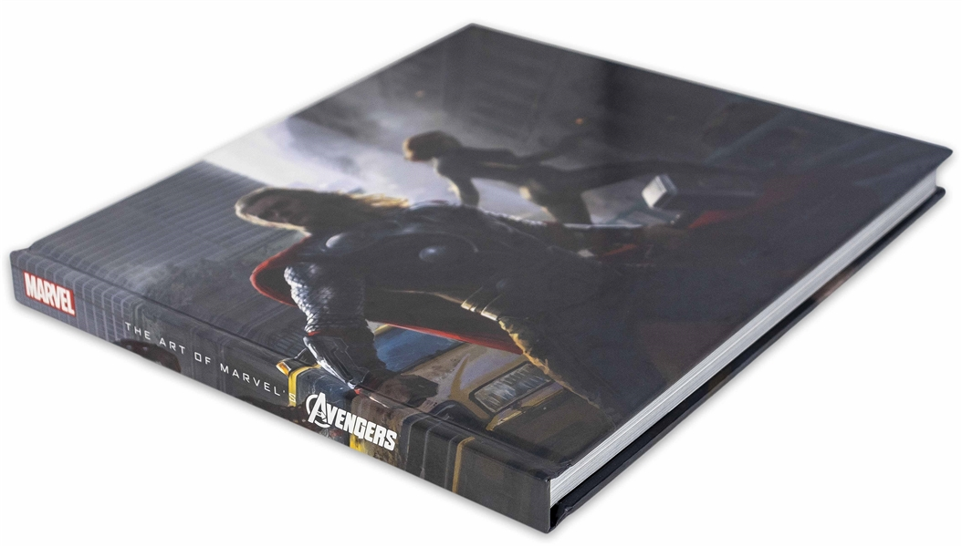 Stan Lee Signed The Art of the Avengers Coffee Table Book -- Also Signed by 7 Members of Superhero Squad Including Chris Hemsworth & Chris Evans