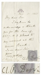 Charles Darwin Letter Signed From 1865