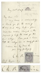 Charles Darwin Letter Signed From 1867