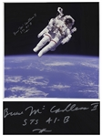 "Bruce McCandless Signed 20"" x 20"" Photo of Him Performing the First Non-Tethered Spacewalk"