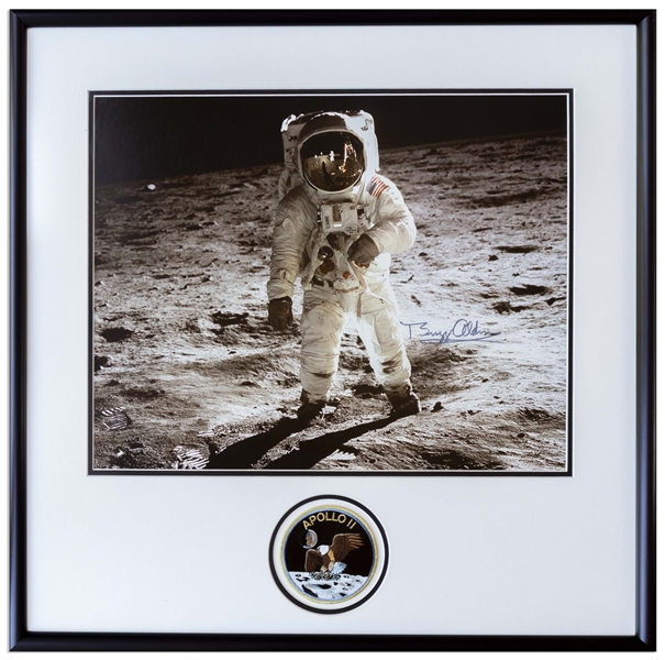 Spectacular Buzz Aldrin Signed 20 x 16 Photo -- With Novaspace COA