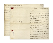 "Autograph Letter Signed by Robert Darwin, Charles Darwins Father -- ""…I have not any money as I told you…"""