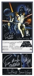 "Carrie Fisher, Peter Mayhew and David Prowse Signed 10"" x 16"" ""Star Wars"" Poster -- With Steiner COA"