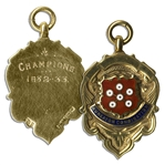 Nuneaton Combination Football Gold Medal From the 1932-1933 Season