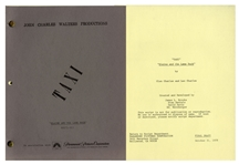 """Taxi"" Script From 1978 -- From the Estate of Sam Simon, Co-Creator of ""The Simpsons"" & Writer on ""Taxi"""