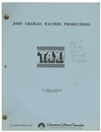 """Taxi"" Script -- From the Estate of Sam Simon, Co-Creator of ""The Simpsons"" & Writer on ""Taxi"""