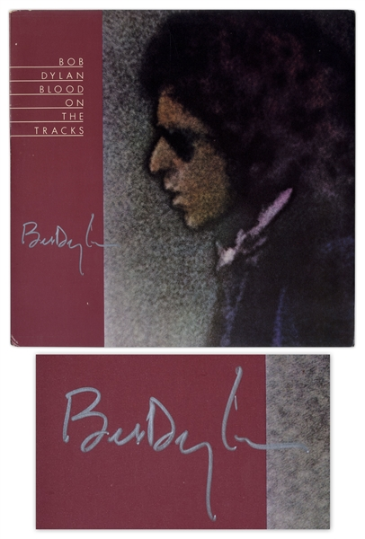 Bob Dylan Signed Album Blood on the Tracks -- With COAs From Jeff Rosen & Roger Epperson