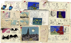 Original 1977 Storyboards for the Dr. Seuss Halloween Is Grinch Night Special -- Over 150 Pages of Graphic Storyboard Art With Narration Matching the Emmy Winning TV Special