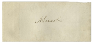 Abraham Lincoln Signature -- With University Archives COA