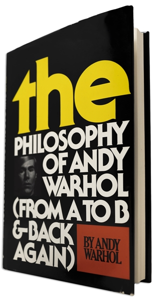 Andy Warhol Sketches His Famous Campbell's Soup Can -- Drawn Upon a Signed First Edition of ''The Philosophy of Andy Warhol''