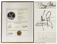 Apollo 11 Crew Signed Poster From 1984, Celebrating the 15th Anniversary of the Mission