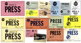 NASA Press Memorabilia Belonging to CBS Journalist During the Apollo Era