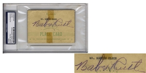 Babe Ruth Signature -- Slabbed by PSA