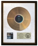 The Beatles RIAA White Matte Gold Award for Something New -- One of a Few Available White Matte Awards for The Beatles