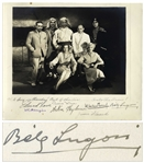 Bela Lugosi Signed 11.5 x 10 Photo From Chandu the Magician -- Also Signed by the Directors and Cast of the Film