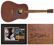 Bob Dylan Signed Martin D-15 Acoustic Guitar -- Also With Dylans RIAA Award for Time Out of Mind -- With Roger Epperson COA