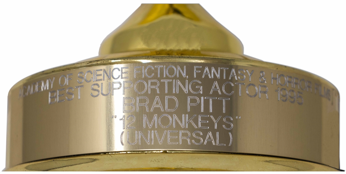 Brad Pitt's Saturn Award for ''12 Monkeys'' -- Pitt Won for Best Supporting Actor