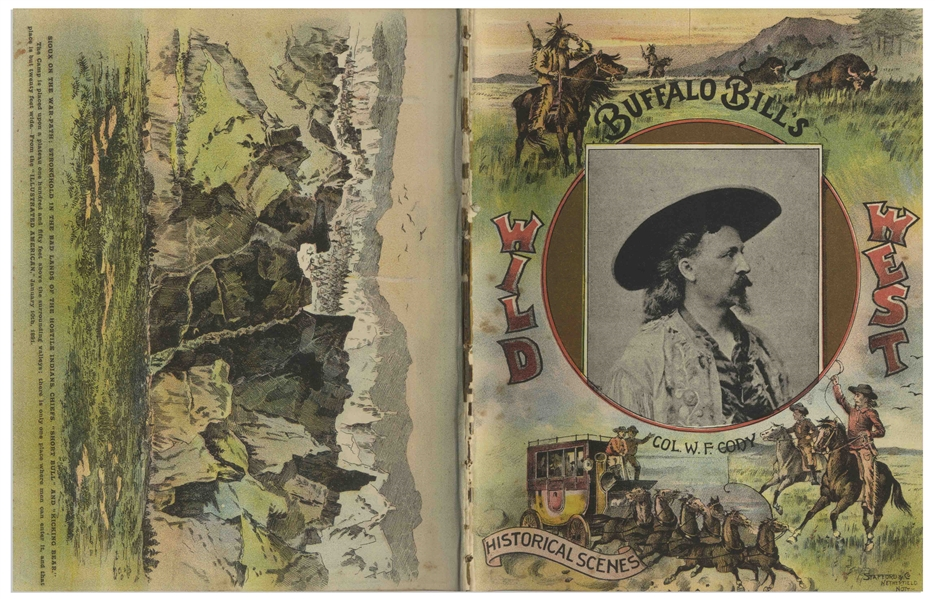 1892 Program for ''Buffalo Bill's Wild West'' Show -- With Profiles of Cody, Annie Oakley as Well as Native Americans Such as Sitting Bull and Plenty Horses