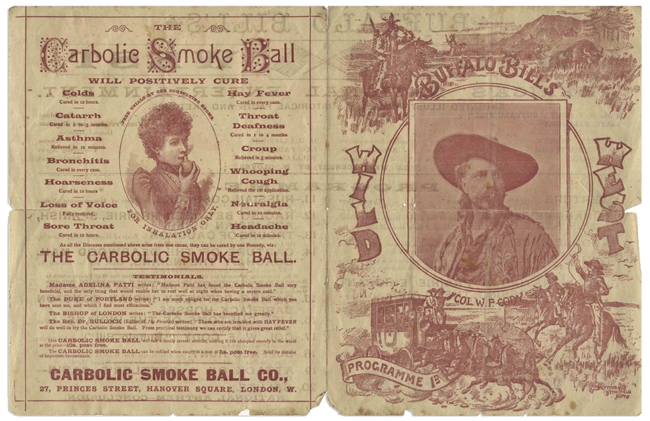 1892 Insert for ''Buffalo Bill's Wild West'' Show