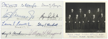 The Burger Supreme Court Signed 14 x 11 Photo -- Signed by All Nine Justices, Circa 1972