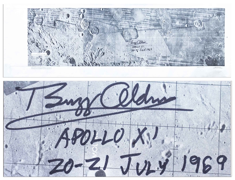 Buzz Aldrin Signed Lunar Module Descent Chart for Apollo 11