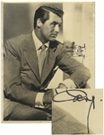 Cary Grant 11 x 14 Signed Photo, With Bold Signature