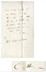 Charles Darwin Autograph Note Signed -- ...you can communicate direct with him...