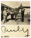 Curly Howard Signed 10 x 8 Three Stooges Photo From Playing the Ponies -- 3 Stooges / In a hurry remember / Curly -- With PSA/DNA COA