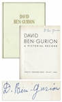 David Ben-Gurion Signed Copy of David Ben-Gurion / A Pictorial Record