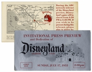 Disneyland Ticket for Opening Day Festivities on 17 July 1955