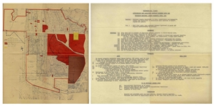 Original 1957 Ordinance & Map Approving the Dodgers Move to Los Angles & the Transfer of Land in Chavez Ravine to Build Dodgers Stadium -- From the Dodgers Archives