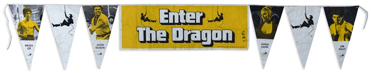 Enter the Dragon Banner for the Film Premiere at Graumans Chinese Theatre on 19 August 1973 -- Measures Over 18 x 3 Feet