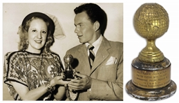 Frank Sinatra 1945 Golden Globe Award for The House I Live In That Promoted Jewish Tolerance -- The Only Major Award Won by Frank Sinatra to Appear at Auction