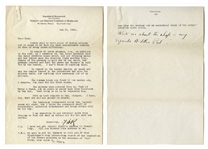 Franklin D. Roosevelt 1928 Letter Signed With an Additional Handwritten Postscript -- ...I am expecting to see Governor Smith this evening to find out what my duties are for the next six months...
