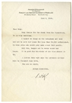 Franklin D. Roosevelt Letter Signed From 1928, Writing to His Physical Therapist Helena Mahoney -- ...You are an Angel...