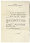 Franklin D. Roosevelt Letter Signed From July 1928 -- ...up to my neck in work - this office, law office, Democratic Executive Committee, fifty letters a day, Warm Springs contributions...