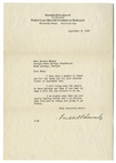 Franklin D. Roosevelt 1928 Letter Signed With His Full Signature -- FDR Writes to His Physical Therapist, ...I will bring down the pearls to Warm Springs and then if you want to make a will...
