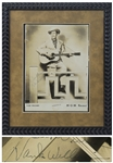 Hank Williams, Sr. Signed Photo, Without Inscription -- With PSA/DNA & Roger Epperson COAs