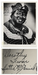 Hattie McDaniel of Gone With the Wind Signed 8 x 10 Photo