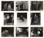 Nine Photos of Ingrid Bergman, Alfred Hitchcock and Gregory Peck From the Filming of Spellbound -- Behind the Scenes Stills From the Collection of Franco Rossellini