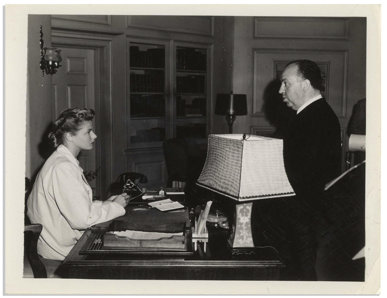 Nine Photos of Ingrid Bergman, Alfred Hitchcock and Gregory Peck From the Filming of ''Spellbound'' -- Behind the Scenes Stills From the Collection of Franco Rossellini