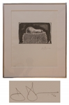 Jasper Johns Light Bulb Lithograph -- Hors Commerce 3 of 7