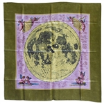Beautiful Silk Scarf Given to Jack Swigert -- Scarf Has the First Moon Atlas, Done in 1647 by Johannes Hevelius