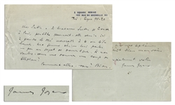 James Joyce Autograph Letter Signed -- ...I have undergone a seventh operation. It was quite awful this time...